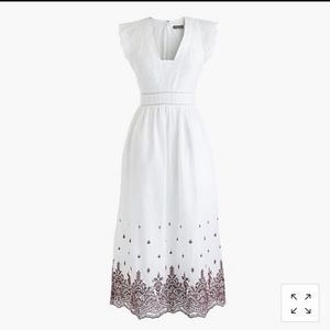 J. Crew Point Sur eyelet dress